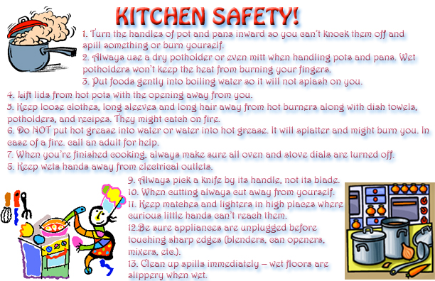 kitchen safety rules pictures to pin on pinterest pinsdaddy
